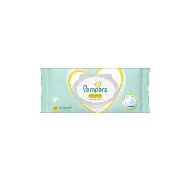 Lenco-Umedecido-Pampers-Com-48-Sensitive
